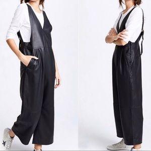 Free people faux leather(vegan) jumpsuit